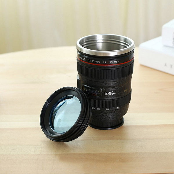 Clearance SLR Camera Lens Stainless Steel Travel Coffee Mug-Rama Deals