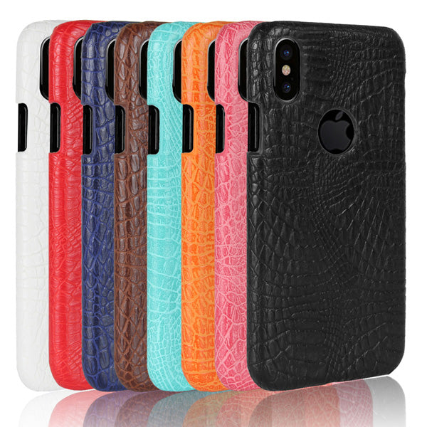 Durable Crocodile Leather Phone Case For iPhone 8-Rama Deals