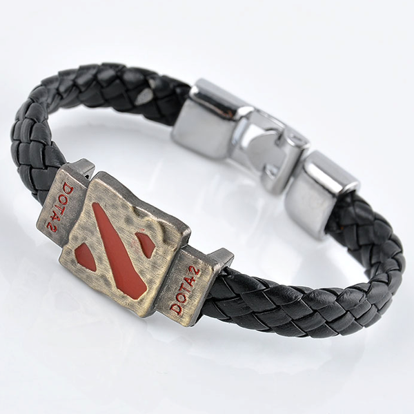 Clearance Men's Dota 2 Braided Leather Bracelet-Rama Deals