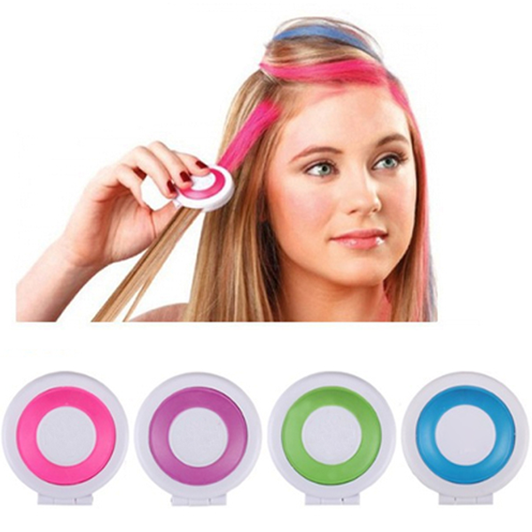 4 Colors Hot Hue Temporary Hair Chalk - Rama Deals - 3