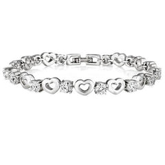 Heart Bracelet Made with SWAROVSKI ELEMENTS - Rama Deals - 1