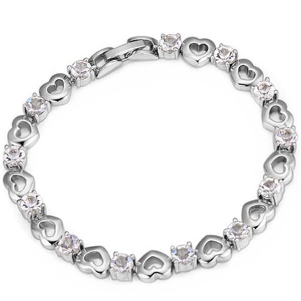 Clearance Heart Bracelet Made with SWAROVSKI ELEMENTS-Rama Deals