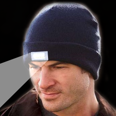 Unisex Knitted Beanie With Built-In 5 LED Flashlight - Rama Deals - 1