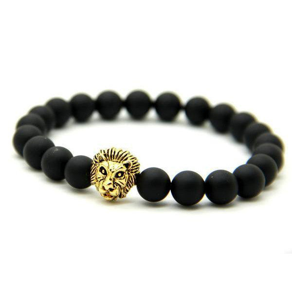 Lion's Lava Rock Bracelet-Rama Deals