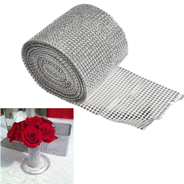 Mesh Crystal Party Decoration Wrap - 10 Yards - Rama Deals - 1