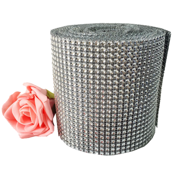 Mesh Crystal Party Decoration Wrap - 10 Yards - Rama Deals - 3