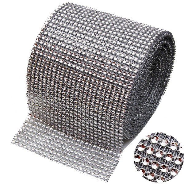 Mesh Crystal Party Decoration Wrap - 10 Yards - Rama Deals - 6