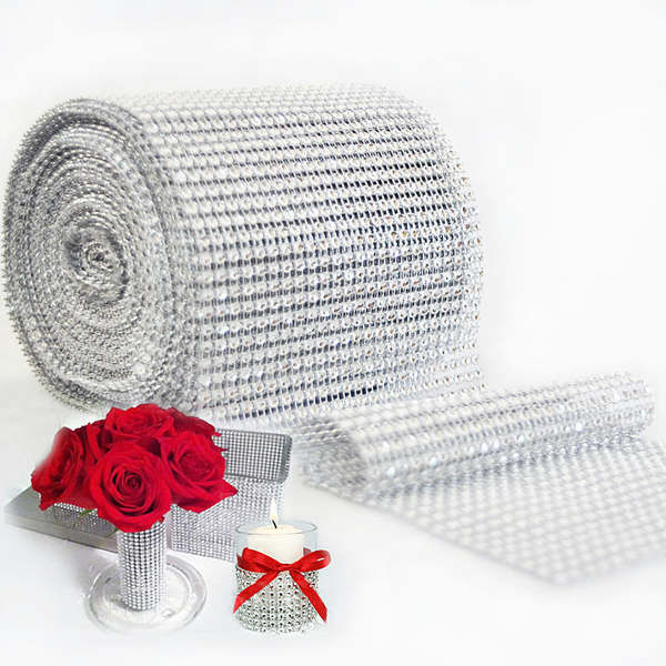 Mesh Crystal Party Decoration Wrap - 10 Yards - Rama Deals - 2