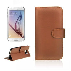 Wallet Stand Leather Case for Samsung S6 - Rama Deals - 1