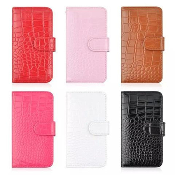 Croco synthetic Leather Wallet Case for Samsung S6-Rama Deals