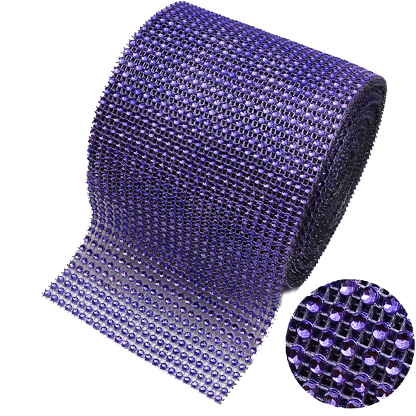Mesh Crystal Party Decoration Wrap - 10 Yards - Rama Deals - 4
