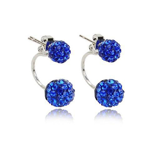 Clearance Double Side Crystal Ball Earrings-Rama Deals