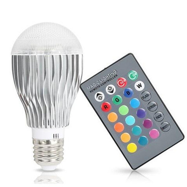 Magic Color Changing LED Light Bulb with Remote Control-Rama Deals