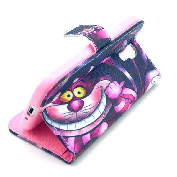 Pink Cat Stand Leather Case For Samsung S4-Rama Deals