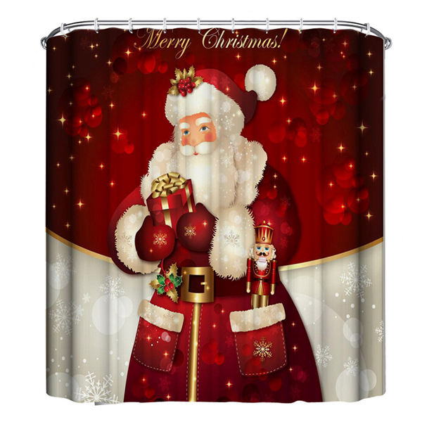 Festive Holiday Waterproof Shower Curtains - Rama Deals - 1