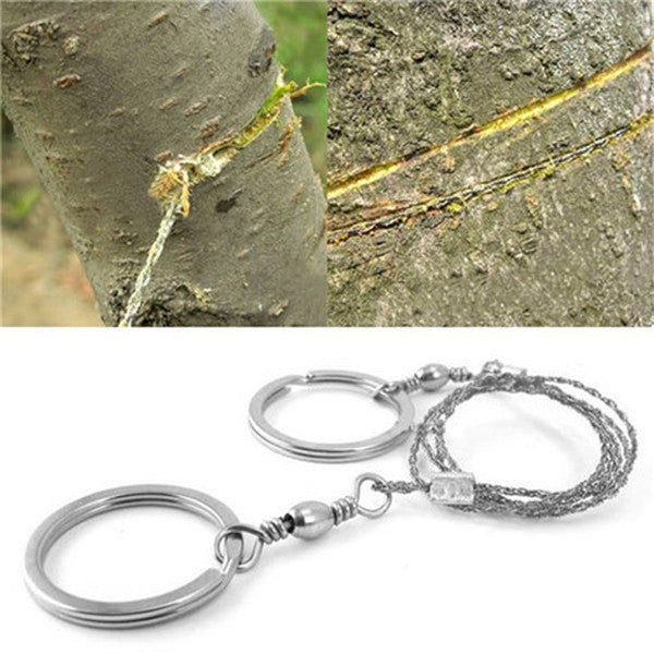 Silver Steel Wire Saw Emergency Outdoor Survival Tool-Rama Deals