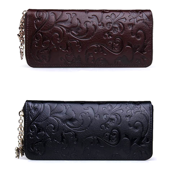 Clearance Leather Long Clutch Embossing Wallet-Rama Deals