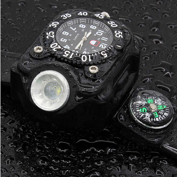 Multi-functional USB Watch with a Rechargeable Flashlight-Rama Deals