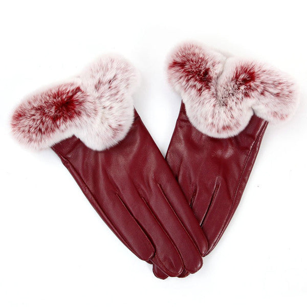 Clearance Warm Winter Touch Screen Women Leather Gloves-Rama Deals