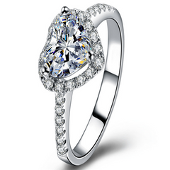 Heart Shaped Diamond Ring-Rama Deals