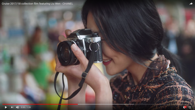 Nikon Film Camera featured in Chanel's Cruise 2017/18 Collection Ad