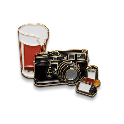 Beers & Cameras Collaboration Lapel Pin