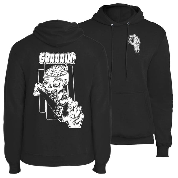 shootfilmco zombie wants grain hoodie