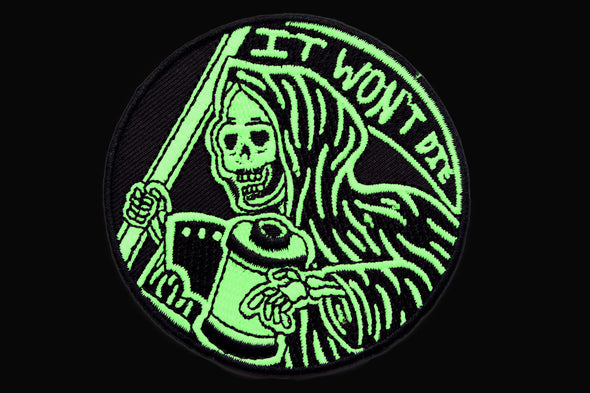It Won't Die Glow in the Dark Embroidered Patch - Shoot Film Co.