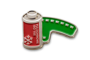 Yulechrome 100 Lapel Pin - 100% Profits for Toys for Tots Foundation - Shoot Film Co.