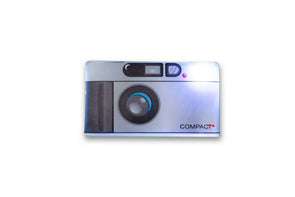 Contax T2 Style Camera Light Up Lapel Pin - Shoot Film Co.
