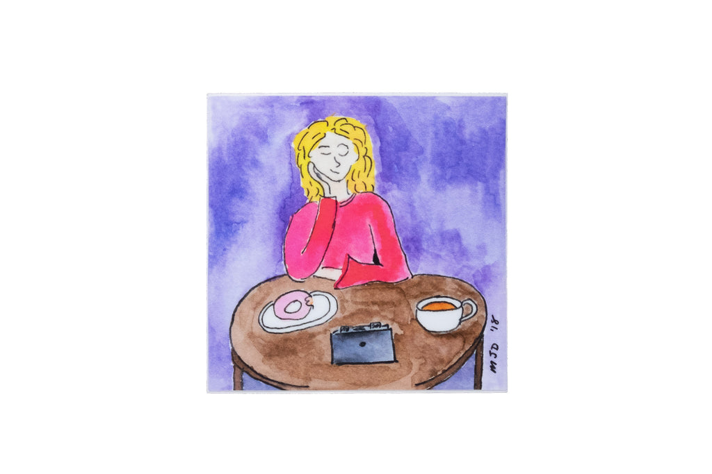 """Pinhole and Doughnuts"" Sticker by Monika Danos"