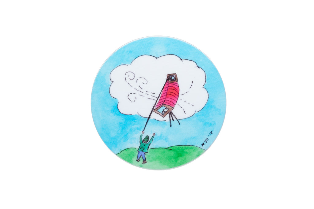 """Large Format Kite"" Sticker by Monika Danos"