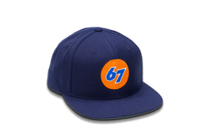 67 Medium Format Flat Bill High-Profile Snapback Hat - Shoot Film Co.