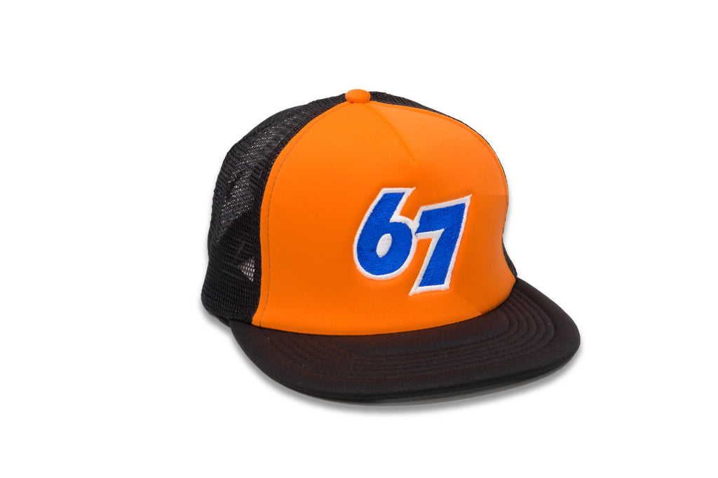 67 Medium Format Orange Trucker Hat with Snapback