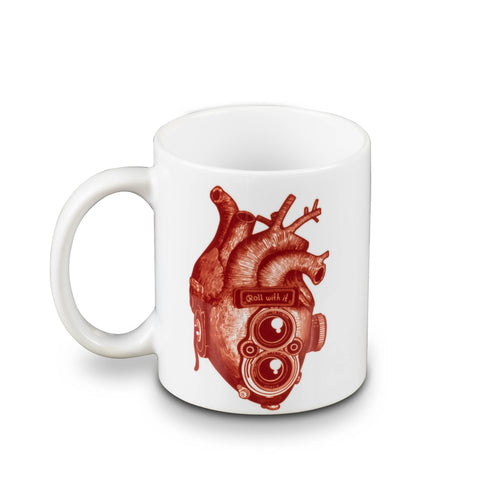 Roll With It TLR Heart 11oz White Mug