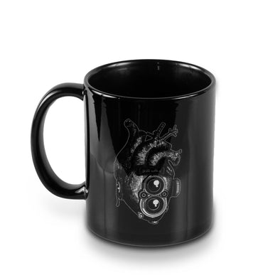 Roll With It TLR Heart 11oz Black Mug - Shoot Film Co.