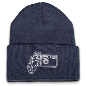 Skeleton Hands Point & Shoot Camera Beanie - Shoot Film Co.
