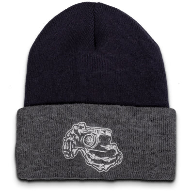 Skeleton Hands Rangefinder Camera Beanie - Shoot Film Co.