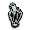 35mm Film Roll Skeleton Hands Glow in the Dark Lapel Pin - Shoot Film Co.