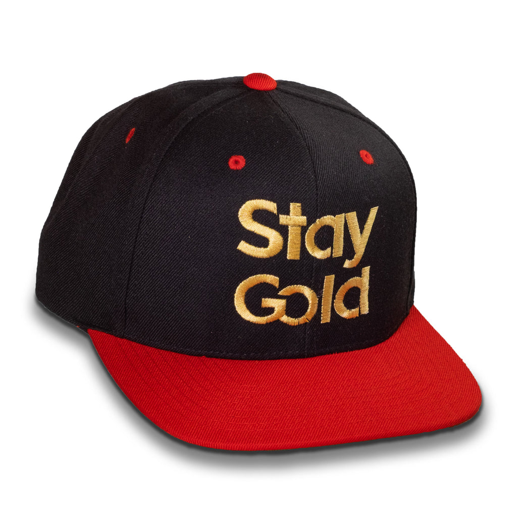Stay Gold Cap - Flat Bill, High Profile, Snapaback Hat