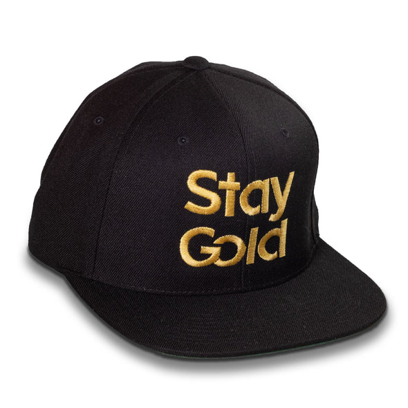 Stay Gold Cap - Flat Bill, High Profile, Snapaback Hat - Shoot Film Co.