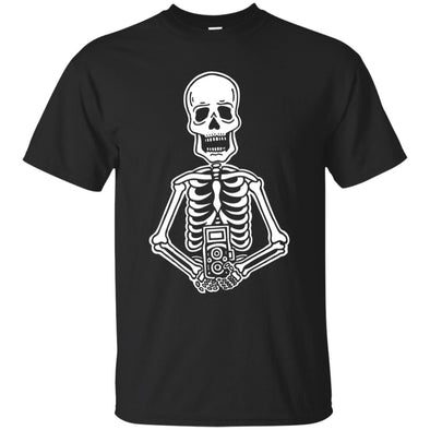 Film is Not Dead Skeleton Film Camera T-Shirt - Shoot Film Co.