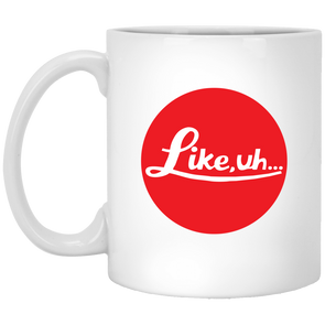 Like, Uh… Famous Red Dot Ceramic Mug - Shoot Film Co.