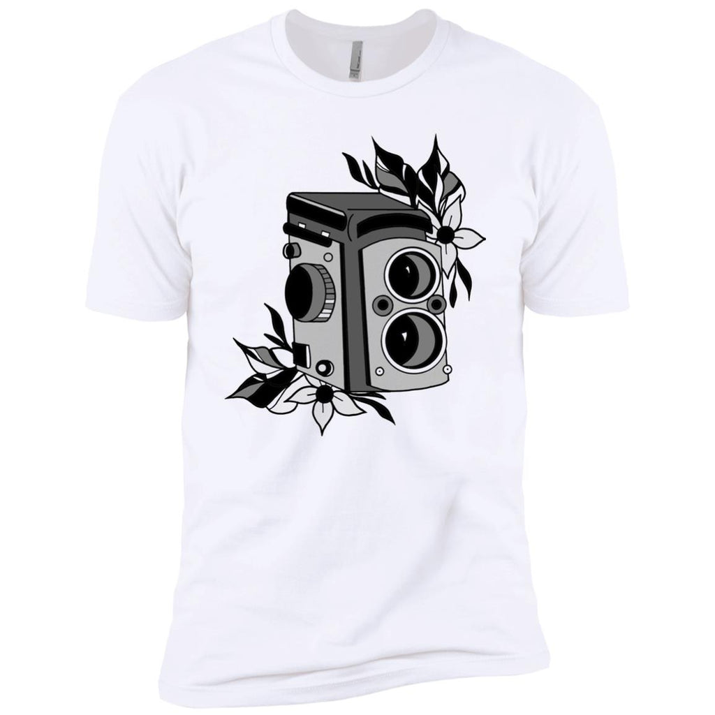 Medium Format TLR Film Camera Premium Short Sleeve T-Shirt by René Fleming
