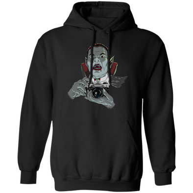 Vampire with SLR 35mm Film Camera Pullover Hoodie Sweatshirt - Shoot Film Co.