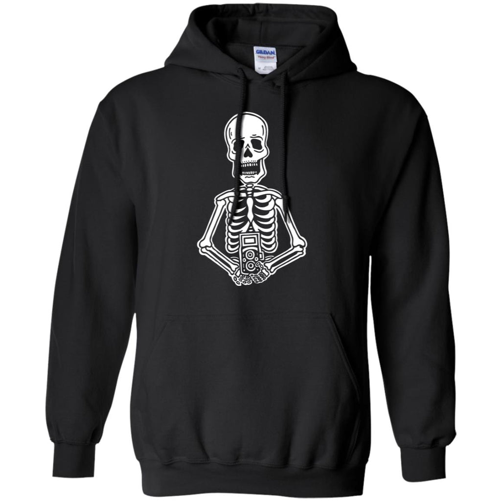 Film Is Not Dead Skeleton Vintage Camera Pullover Hoodie Sweatshirt
