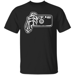 Skeleton Hands Point & Shoot Film Camera T-Shirt Standard Quality - Shoot Film Co.