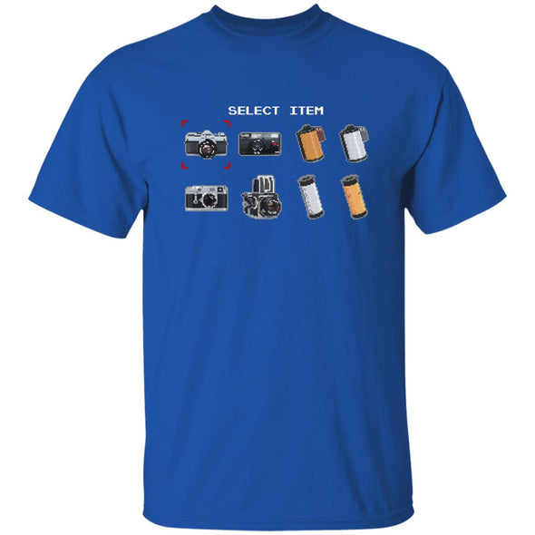 Select Item 8-Bit Camera & Film T-Shirt - Shoot Film Co.