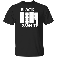 Black & White Flag DARK Short Sleeve Cotton T-Shirt