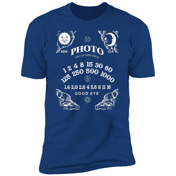 Light Capturing Oracle Ouija Board Front Print Premium Short Sleeve T-Shirt - Shoot Film Co.